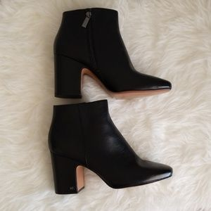 Michael Kors Black Leather Ankle Boots 11